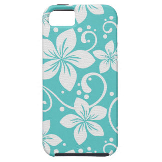 Plumeria Swirl Cyan 2 iPhone 5 Cover