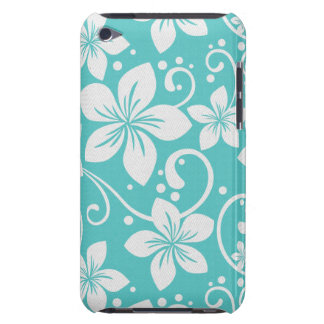 Plumeria Swirl Cyan 2 iPod Case-Mate Cases