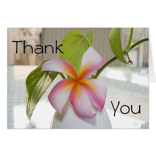 Plumeria Thank You Card