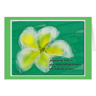 Plumeria Tree Note Card