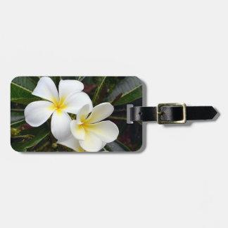 Plumeria Tropical Flowers Luggage Tag