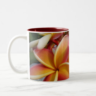 plumeria Two-Tone coffee mug