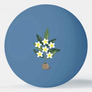Plumeria Vase Ping Pong Ball