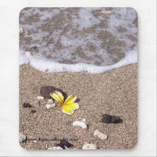 Plumeria Washes Ashore Mouse Pad
