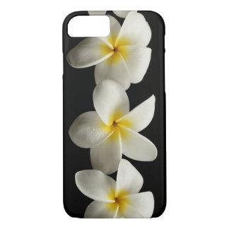 Plumerias.. Three Flowers on Black iPhone 7 Case