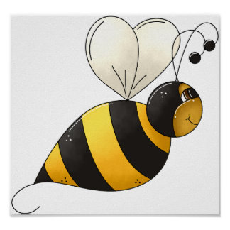 Plump Bee Poster