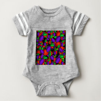 Plums and peaches baby bodysuit