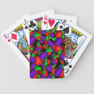 Plums and peaches poker deck