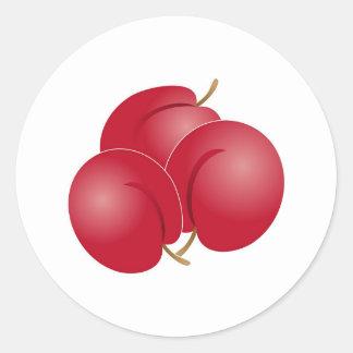 Plums Classic Round Sticker
