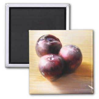 Plums Still Life Magnet