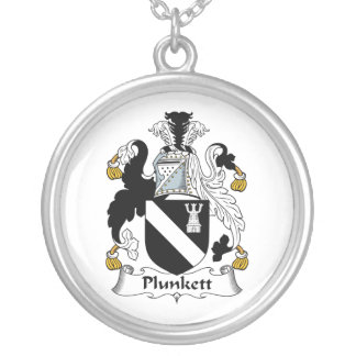 Plunkett Family Crest Silver Plated Necklace