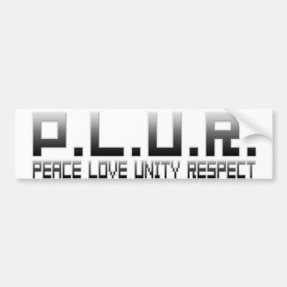 PLUR - Peace Love Unity Respect Bumper Sticker