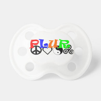 PLUR Peace Love Unity Respect Pacifier
