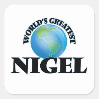 Plus grand Nigel du monde Autocollants Carrés