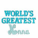 Plus grand Nonna du monde Vestes Brodées