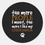 Plus les personnes je rencontre… la version de adhésifs ronds