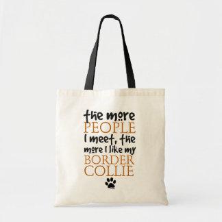 Plus les personnes je rencontre… la version de bor sac en toile