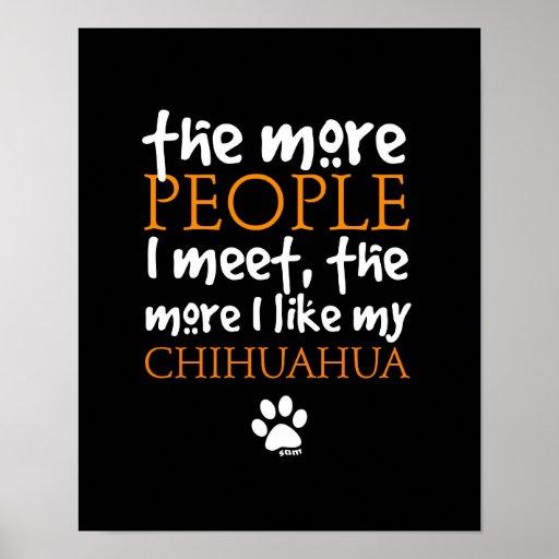 Plus les personnes je rencontre… la version de chi posters