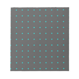 plus sign pattern notepad