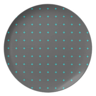 plus sign pattern party plates