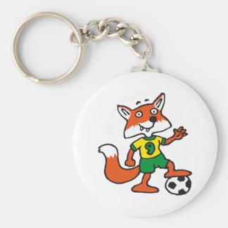 plus soccer fox porte-clés