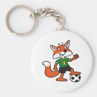 plus soccer fox porte-clé