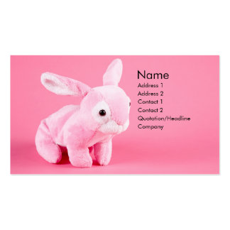 Plush Bunny Profile Card Pack Of Standard Business Cards