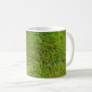 Plush Green Grass Pattern Texture Background Coffee Mug