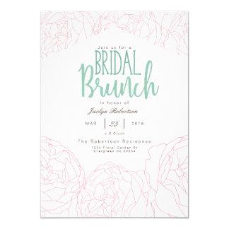 Plush Peony Bridal Brunch Invitation