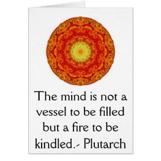 Plutarch quote education teacher learning card