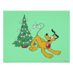 Pluto at Christmas Poster