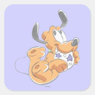 Pluto   Baby Pup Square Sticker
