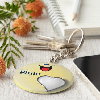 Pluto Basic Round Button Keychain