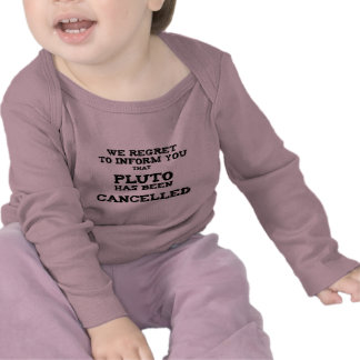 Pluto cancelled t shirt