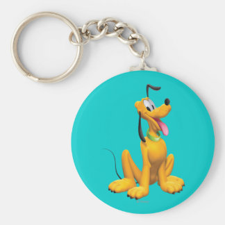 Pluto | Cartoon Side Basic Round Button Keychain