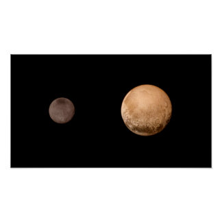 Pluto Charon Two (solar system) ~ Poster
