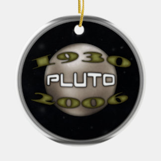 Pluto Commemorative 1930-2006 Round Ceramic Ornament