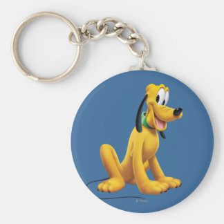 Pluto | Eyes to Side Basic Round Button Keychain