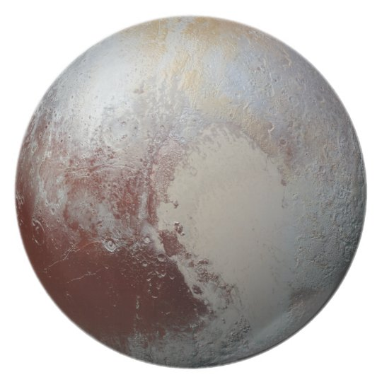 Pluto lovers plate