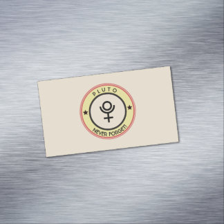 Pluto, never forget Magnetic business card