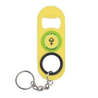 Pluto, never forget mini bottle opener