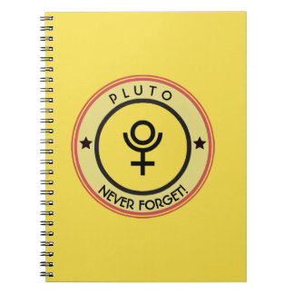 Pluto, never forget notebook