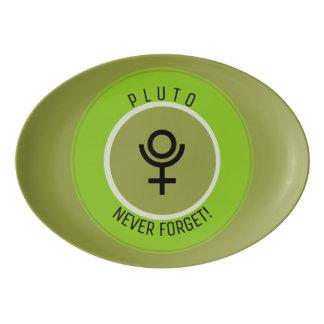 Pluto, never forget porcelain serving platter