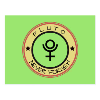 Pluto, never forget postcard