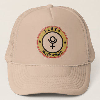 Pluto, never forget trucker hat