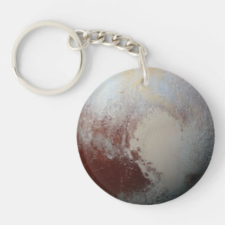 Pluto planet Single-Sided round acrylic keychain