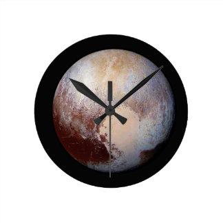 Pluto Round Clock