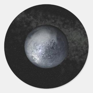 pluto round sticker