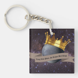 Pluto, the Kuiper Belt King, square keychain