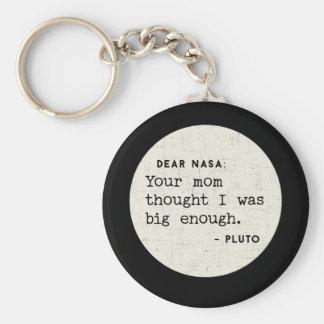 Pluto WAS big enough. Cosmic Humor Keychain